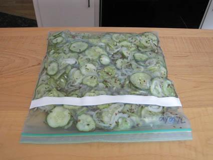 Freezer Dill Pickles