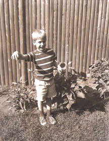 Me and my garden at age 6