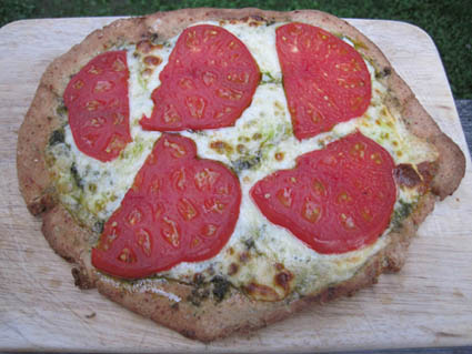 Tomato & Pesto Pizza