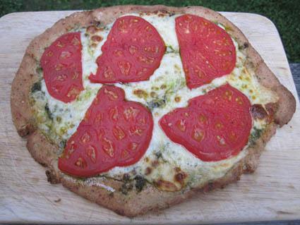 Tomato & Pesto Pizza