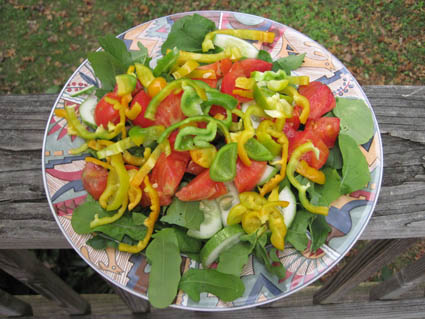 Garden Fresh Salad in Late October