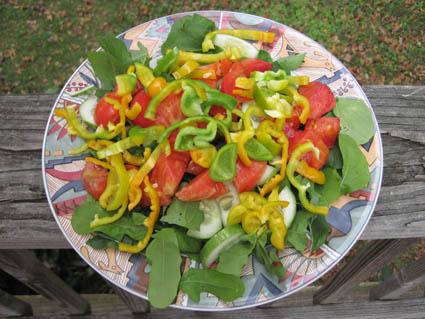Garden Fresh Salad in Late October