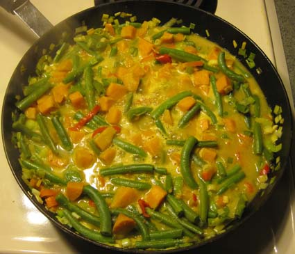 Green Bean & Sweet Potato Curry